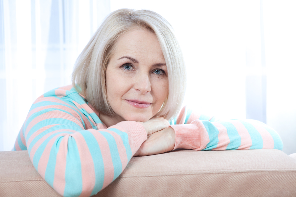 woman going through menopause